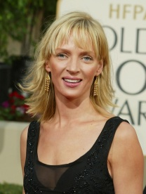 Uma Thurman arrives at the 60th Annual Golden Globe Awards held at the Beverly Hilton Hotel in Los Angeles, CA on January 19, 2003. Photo by Kevin Winter/Getty Images.